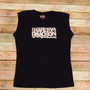 Harley-Davidson Women's Sleeveless Crew Neck Tee L